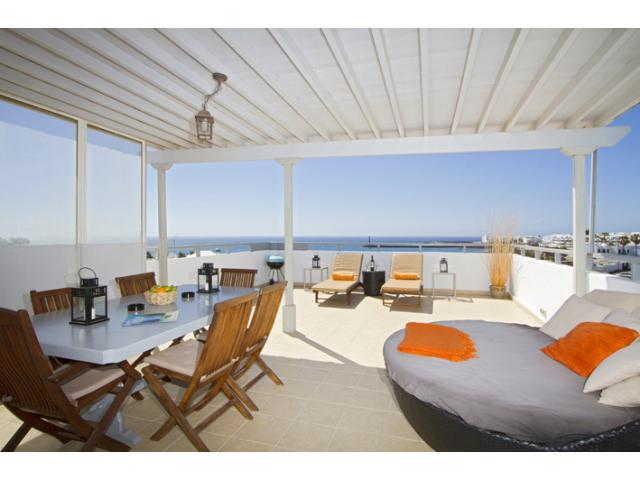 Ocean View Terrace and View - Ocean View Penthouse, Costa Teguise, Lanzarote