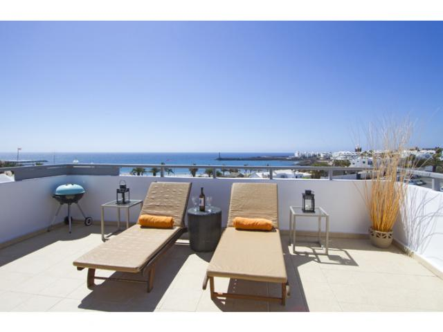 Relax on the terrace - Ocean View Penthouse, Costa Teguise, Lanzarote